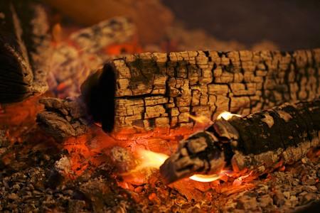 qs: Glowing charcoal
