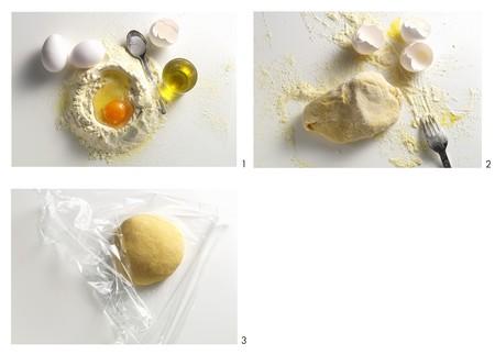 durum wheat semolina: Making pasta dough with durum wheat semolina