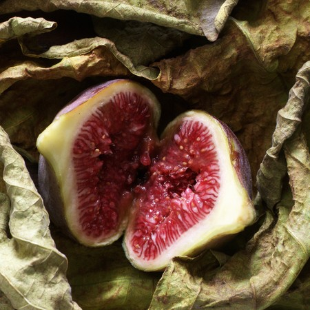 halved: A halved fig