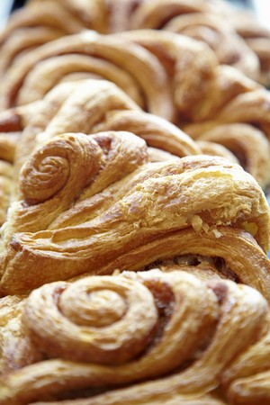 danish puff pastry: Puff pastries (close-up) LANG_EVOIMAGES