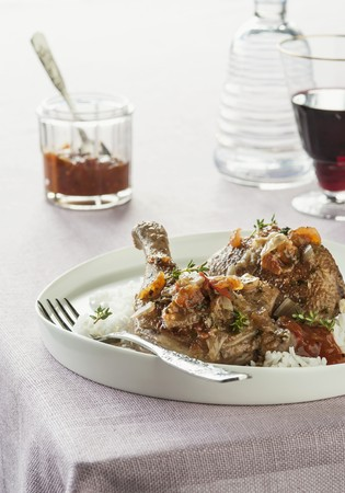 verm�: Pato con los tomates y el vermouth