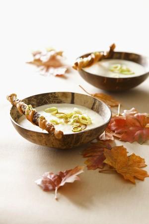 gressins: Pommes de terre et poireaux avec des b�tons
