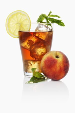 teas: Iced tea with peach