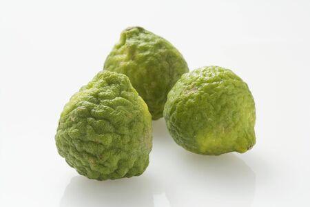 kafir lime: Three kafir limes