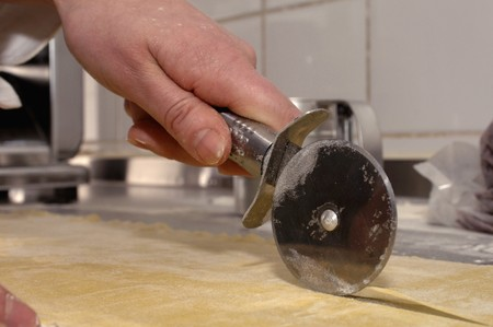 worktops: Pastry being cut with a pastry wheel
