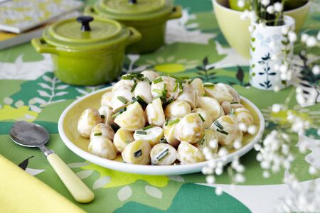 vintage: Potato salad with chives