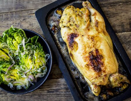 lactuca: 37. Whole roast chicken stuffed with salad