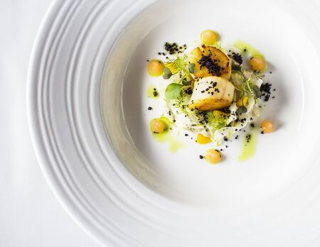 foeniculum: Scallops with fennel and melon