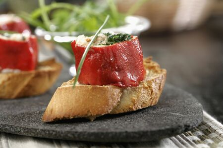 tunafish: Canape pretty with piquillo peppers LANG_EVOIMAGES