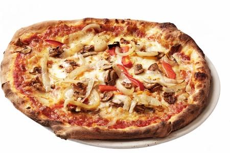 haloumi: A haloumi and pepper pizza
