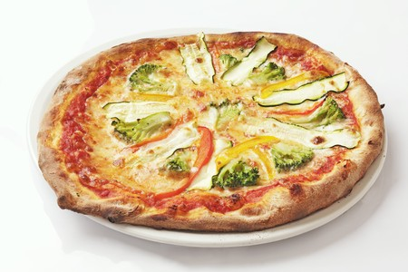 cocozelle: A broccoli, courgette and pepper pizza