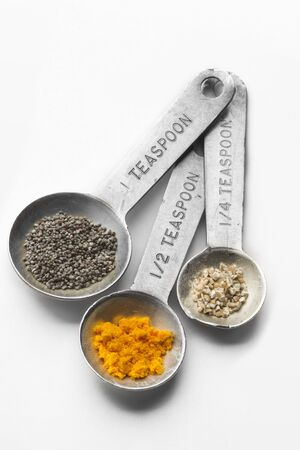 measuring spoon: Metal Measuring Spoon Set with Assorted Spices