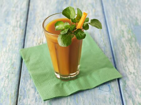 water cress: A carrot smoothie