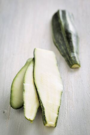 cocozelle: A sliced courgette