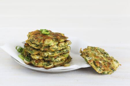 cocozelle: A stack of courgettes cakes