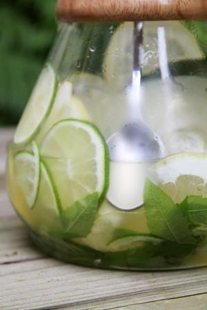 soda pops: Limeade in a glass jug