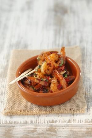 gambas: Gambas al ajillo (garlic prawns, Spain)