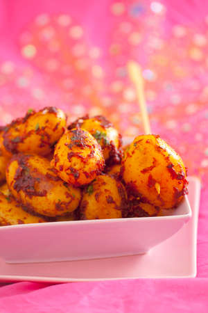 piri piri: Fried new potatoes with piri piri