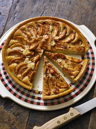 apple tart: An apple tart, sliced