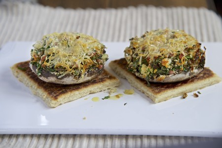 giant mushroom: Stuffed portobello mushrooms, topped with cheese and baked LANG_EVOIMAGES