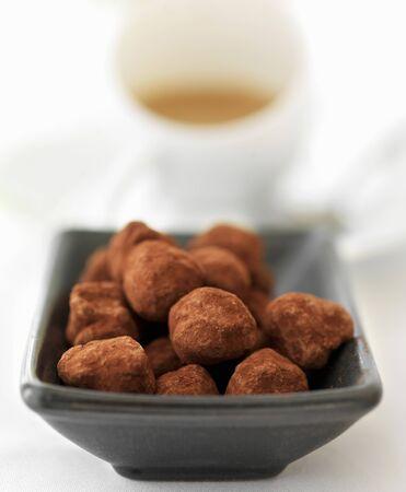 trufas de chocolate: Trufas de chocolate con caf�
