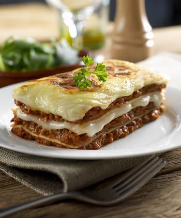 food: Beef lasagne
