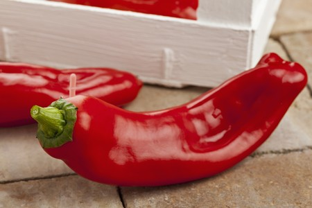 Red Point Pointed a Red Pointed Pepper