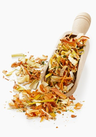 parsnips: Dried vegetables (carrots, parsnips, onions, leeks) for vegetable stock