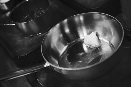 hobs: Butter melting in a saucepan