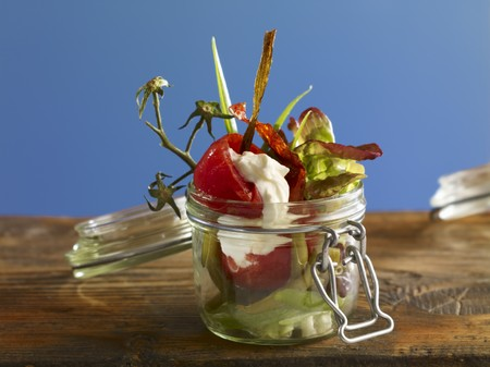 free me: Tomato concasse with beans in a preserving jar LANG_EVOIMAGES