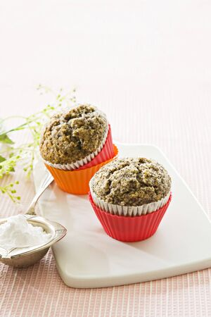 twos: Two poppy seed muffins