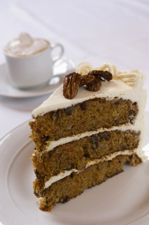 three layer: A Slice of Three Layer Carrot Cake