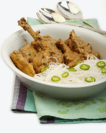 chicken curry: Chicken curry with coconut milk and ginger (Thailand)