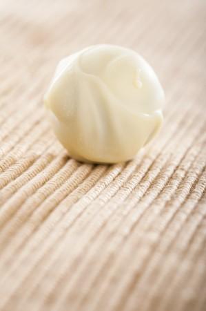 chocolate truffle: A home-made white chocolate truffle