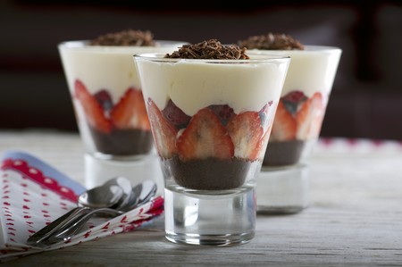 trifles: Berry trifles with chocolate