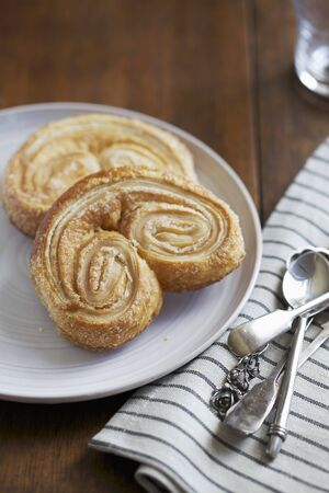 danish puff pastry: Two Palmiers on a Plate LANG_EVOIMAGES