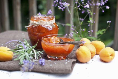 perishable: Homemade Apricot Jam with Fresh Apricots and Lavender