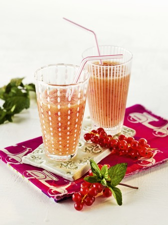 redcurrant: Two redcurrant smoothies