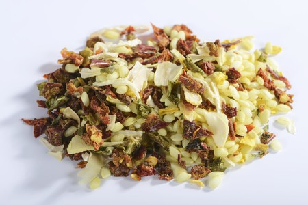 petroselinum sativum: Vialone Nano risotto rice with dried vegetables and seasoning