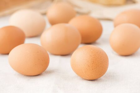 brownish: Fresh brown eggs