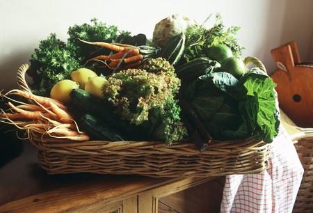 tallboy: Basket of vegetables