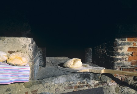 woodfired: Bread cooked in a wood-fired oven
