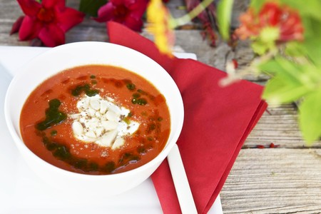 summery: Gazpacho (cold vegetable soup, Spain)
