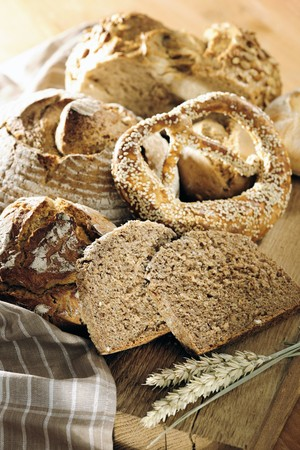 several breads: Variation of Wholemeal Bread