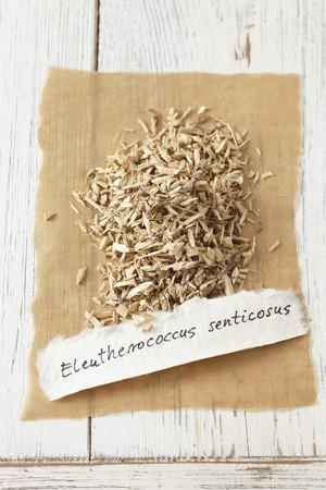 Dried Siberian ginseng (Eleutherococcus senticosus)