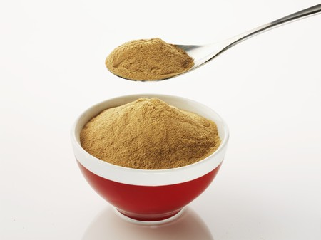 brewers: bowl of brewer s yeast with spoon of yeast LANG_EVOIMAGES