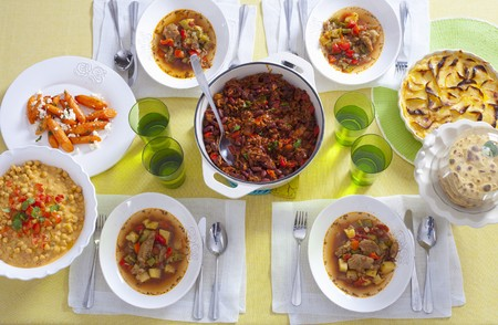 diversity of the region: Assorted savoury dishes LANG_EVOIMAGES