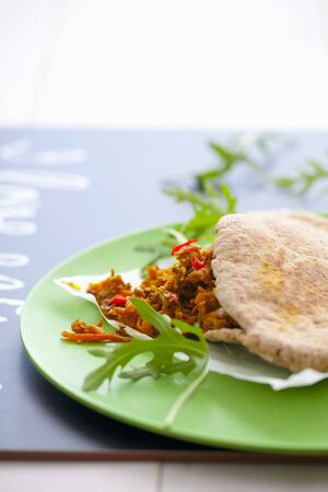 medley: Pita bread stuffed with a carrot medley LANG_EVOIMAGES