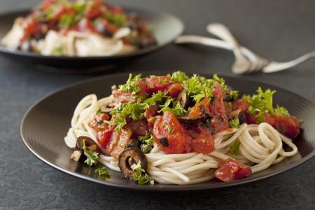 puttanesca: Vegan and Gluten Free Spaghetti alla Puttanesca