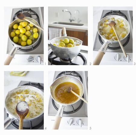 marillenmarmelade: Aprikosenmarmelade in Vorbereitung